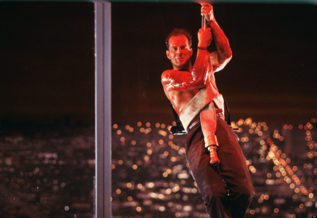 "This publicity photo released by Twentieth Century Fox Home Entertainment shows Bruce Willis in a scene from the 1988 film, ""Die Hard."" The ""Die Hard"" 25th Anniversary Collection Blu-ray released on Jan. 25, 2013. (AP Photo/Twentieth Century Fox Home Entertainment)"